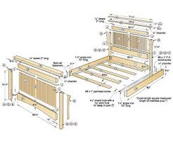 King Platform Bed Woodworking Plans by King Bed King Size Bed Woodworking Plans Kmyehai Com