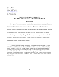 Confidentiality In Cyberspace The Hipaa Privacy Rules And The