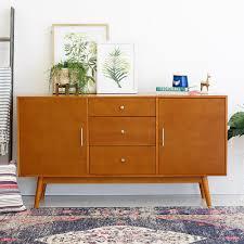 Modern Wood Furniture Walker Edison Furniture Company 60 In Mid Century Modern Wood Tv