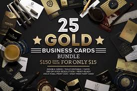 25 gold business cards bundle business card templates creative