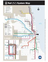 chicago map with attractions version l map of chicago maps