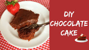 diy 5 min chocolate cake no flour no eggs biscuit cake recipe