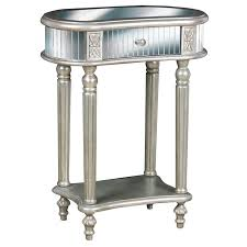 Painted Accent Table Hand Painted Silver Mirrored Accent Table Free Shipping Today