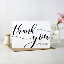 thank you cards pack of 10 personalised wedding thank you cards by here s to us