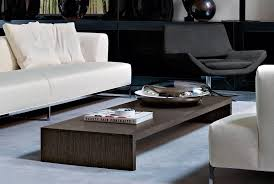 Modern Living Room Tables Furniture Cool Rectangle Shape White Low Coffee Table For Modern