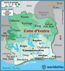 africa map ivory coast cote d ivoire map geography of cote d ivoire map of cote d