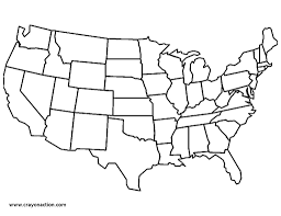 United States America Map by Map Of The United States Of America Coloring Page Free Printable