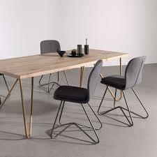 chaises design salle manger chaise design de salle à manger avec coque en tissu rembourrée et