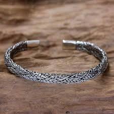 make silver bracelet cuff images Men 39 s silver cuff bracelet warrior novica jpg