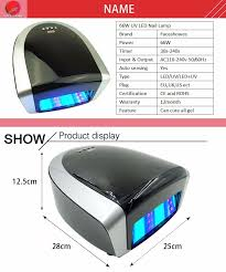 36w 66w black two hand uv nail with tube uv gel nail curing lamp