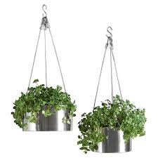 Hanging Planter Boxes by Bari Stainless Steel Hanging Planters Bari Planters And