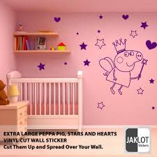peppa pig fairy stars heats vinyl wall sticker decal extra large peppa pig fairy stars heats vinyl wall sticker decal extra large ebay