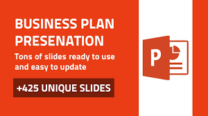 business plan amazing powerpoint presentation template youtube