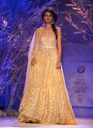 multi color wedding dress indo western wedding gown with multi color embroidery at zikimo