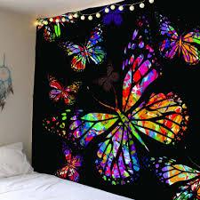 2018 colored butterfly pattern waterproof wall tapestry