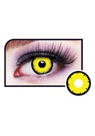 yellow wolf eye contacts
