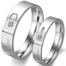 his and hers wedding bands his and lock and key wedding band his hers jewelers