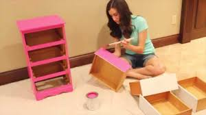 How To Repaint Furniture by How To Paint Furniture Diy Painted Nightstand Youtube