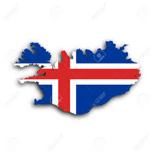 Country Flag Images Country Shape Outlined And Filled With The Flag Iceland Stock