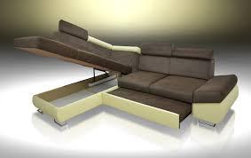 Corner Sofa Velvet Sofa Bed Felix Brown Velvet Fabric Eco Leather Cream