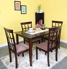 home by nilkamal trivia solid wood 4 seater dining set price in