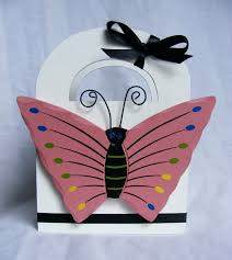 snap scrap blog tweet summer craft for kids butterfly gift bag