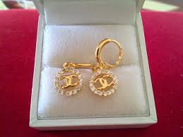 anting emas 24 karat jual anting gantung permata chanel zahna grosir
