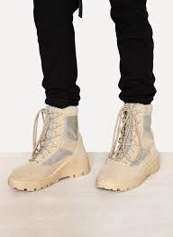 yeezy combat boot crosta light sand calfskin suede in natural for