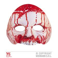 chinless bloody psycho fabric mask from halloween hq