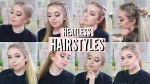 Hairstyles Easy And Quick by Heatless Hairstyles Easy U0026 Quick Youtube