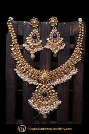 antique gold necklace images Antique gold necklace set by punjabi traditional jewellery jpg