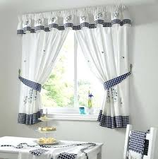 Blue And Yellow Kitchen Curtains Decorating Blue Plaid Kitchen Curtains Decorating Mellanie Design