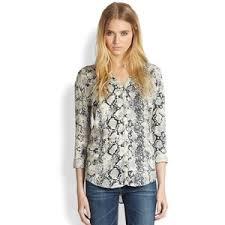 snake print blouse joie dane snakeskin print blouse polyvore