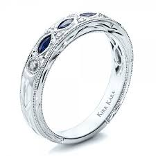 wedding band with engagement ring sapphire wedding band with matching engagement ring kirk kara