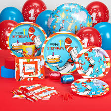 1st birthday dr seuss 1st birthday party supplies standard party