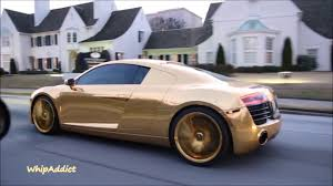 cool golden cars whipaddict dennis schroder u0027s gold wrapped audi r8 on gold savini