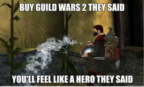 Guild Wars 2 Meme - buy guild wars 2 they said you ll feel like a hero they said