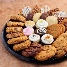 gourmet snacks same day delivery gourmet cookie cupcake tray sweet flour bake shop