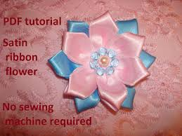 chagne satin ribbon fabric flower pdf tutorial satin ribbon flower tutorial nr 3