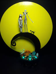 Halloween Light Show Nightmare Before Christmas Nightmare Before Christmas Jack And Sally Bride Groom Wedding