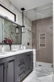 bold bathroom tile designs hgtv decorating design blog marvelous marble transitional master bathroom with taupe hexagonal tile