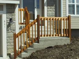 Banister Railing Installation Diy Wooden Porch Handrail Ideas Wood Railing And Concreate Steps