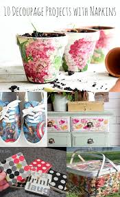 how to decoupage napkins on canvas mod podge rocks