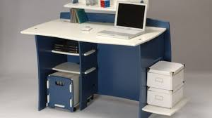computer desks with wheels foter regarding popular residence blue