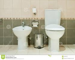 modern bathroom with toilet and bidet stock photo image 25294270