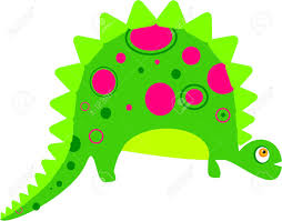 simple cute dinosaur isolated on white stock photo picture and
