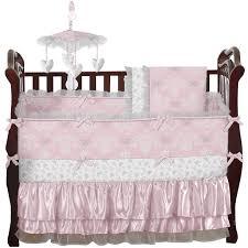 White Crib Bedding Sets by Bed U0026 Bedding Sweet Jojo Designs Alexa 9 Piece Crib Bedding Set