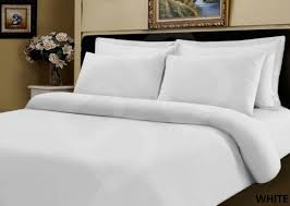 Duvet Cover Double Bed Size 100 Pure Egyptian Cotton 500 Thread Count White Duvet Cover Double