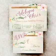 Country Chic Wedding Invitations Wedding Invitation Set Pink Rustic Wedding Invitation Printable