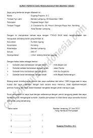 contoh surat pernyataan format a1 surat pernyataan penguasaan fisik bidang tanah